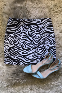 H&M Spódnica zebra...