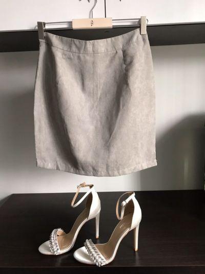 Spódnice zamsowa spodnica m