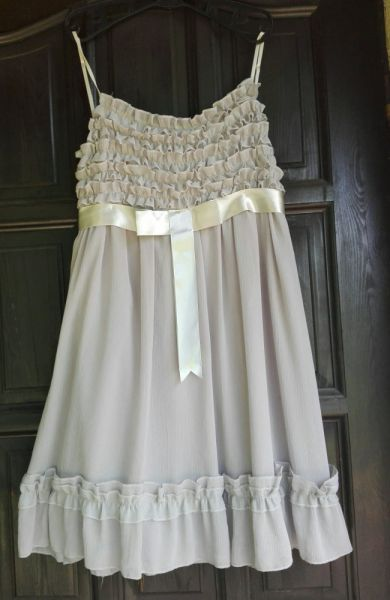 Suknie i sukienki RINASCIMENTO włoska szara piękna zwiewna sukienka M L