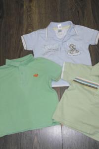 Trzy koszulki polo 86...