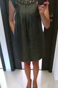Next Sukienka z kamieniami cyrkoniami do pracy elegancka r 36 ciążowa