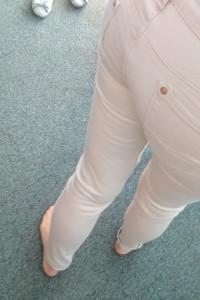 spodnie materiałowe rurki xs...
