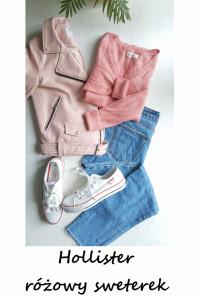 Różowy sweterek Hollister S M