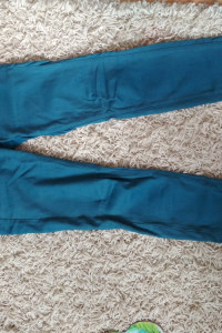 materiałowe spodnie s...