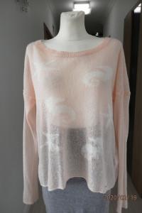 Modny Sweter Hollister Pudrowy Róż Oversize L