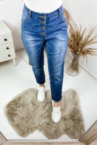 Jeansy rzędowe guziki...