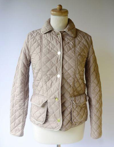 Odzież wierzchnia Kurtka Zara Woman Beżowa Pikowana S 36 Beż Jesienna