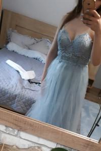 SUkienka baby blue asos cudowna koronkowa sukienka niebieska ti...