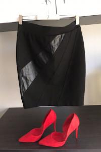 orsay czarna spodnica...