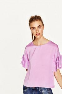 Bluzka liliowa Zara S