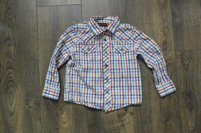 Koszulki, podkoszulki Koszula w kolorową kratę 98