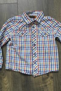 Koszula w kolorową kratę 98...