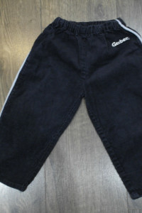 Spodnie sztruksowe czarne 86