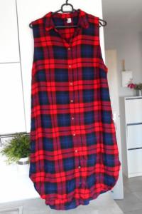 HM długa koszula w kratę