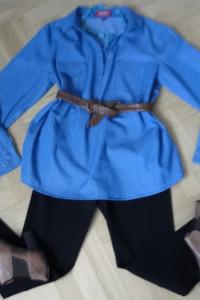 Nowa tunika koszula dżinsowa 46 rewelacja...