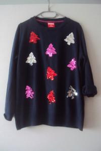 cienki sweterek z cekinową aplikacja