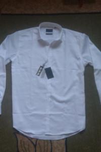 Koszula biała BATISTINI bawełna Egipska NOWA 4142 LXL