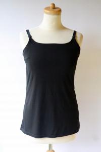 Koszulka Czarna H&M Mama M 38 Bluzka Do Karmienia...