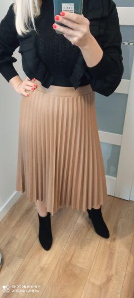 Spódnice Spódnica plisowana skóropodobna