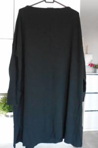 COS dresowa sukienka czarna oversize...