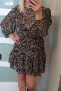 Sukienka w cętki...