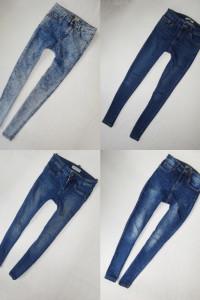 zestaw spodni spodnie rurki marmurki 4 szt 36 S...