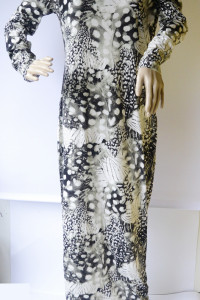 Sukienka NOWA Long Długa Wzory L 40 Wzorki Prosta H&M...