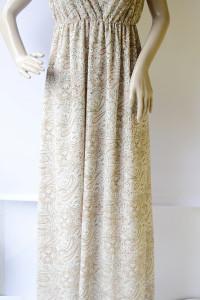 Sukienka Wzory Long Maxi H&M Boho S 36 Beżowa