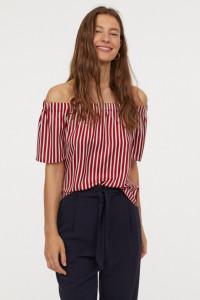H&M nowa bluzka z odkrytymi ramionami...