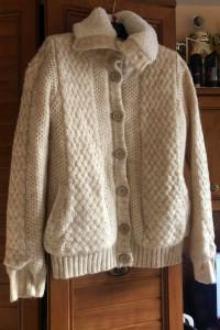 Bershka nowy sweter kurtka warkocz M
