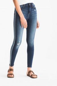 C&A nowe super skinny jeans z lampasami...