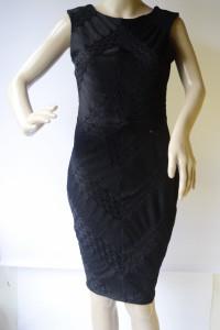 Sukienka Czarna NOWA M 38 Lipsy London Ażurowa Ołówkowa