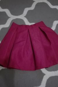 Spódnica różowa rozkloszowana