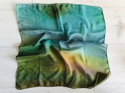 Chusty i apaszki NOWA apaszka zielona chusta 50x50 cm