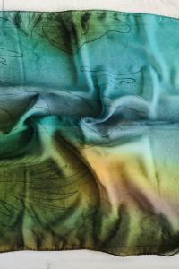 NOWA apaszka zielona chusta 50x50 cm...