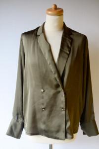 Bluzka Zielona Khaki Militarna M 38 Gina Tricot