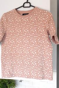 Reserved bluza pudrowa wzory pudrowy róż print
