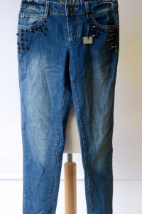 Spodnie Nowe Lipsy Dzinsy Rurki Ćwieki S 36 Jeans...
