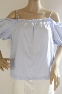 Bluzka Niebieska Hiszpanka H&M Odkryte Ramiona XXL 44