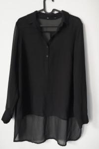 Czarna koszula mgiełka oversize Marks&Spencer XL
