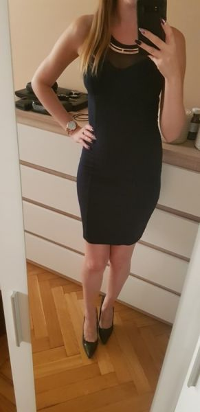 Suknie i sukienki granatowa mini sukienka