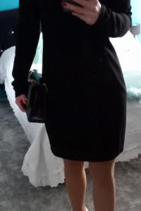 VERSACE JEANS czarna sukienka z aplikacją 38...