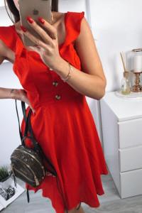 Obłędna sukienka w kolorze soczystej czerwieni 38 M...