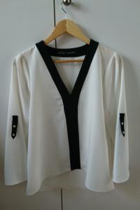 Biało czarna bluzka ZARA XS...