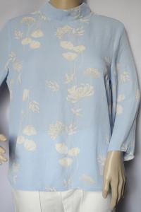 Bluzka Błękitna Kwiaty S 36 Gina Tricot Elegancka Niebieska...