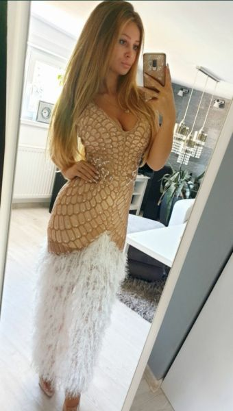 Suknie i sukienki Sukienka Asos cekiny bogato zdobiona zlota piórka maxi 38 M