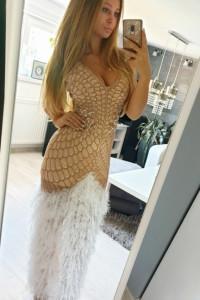 Sukienka Asos cekiny bogato zdobiona zlota piórka maxi 38 M...