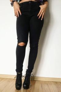 Jeansy czarne rozmiar 38