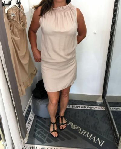 Suknie i sukienki Beżowa sukienka
