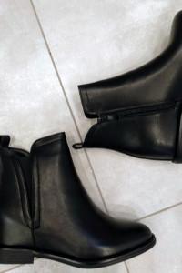 Czarne botki na ukrytym koturnie 36 37 38 39 40 41